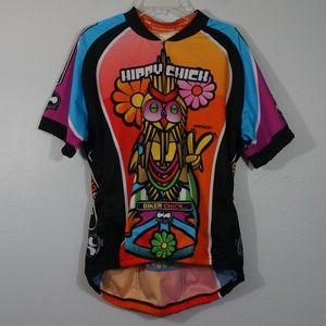 Precaryous Hippy Chick Biker Chic Cycling Top